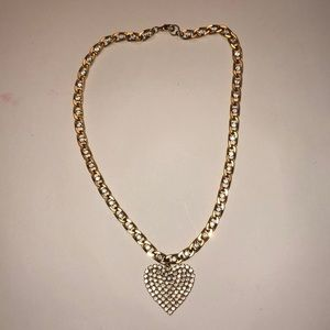 BETSEY JOHNSON gold heart necklace